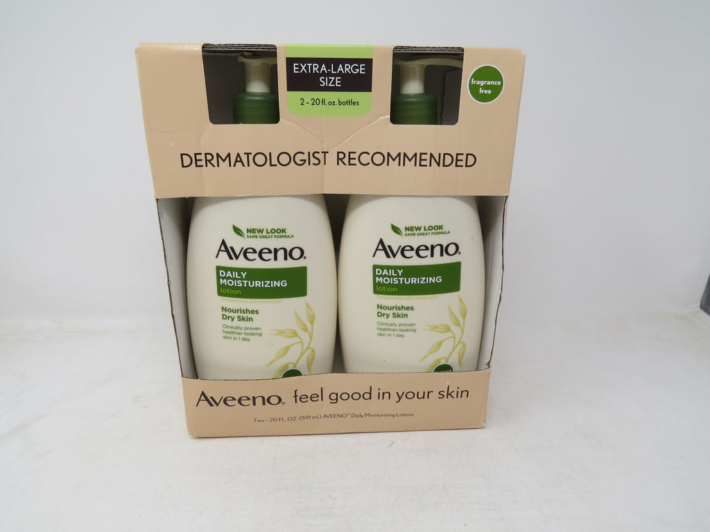 Aveeno Active Naturals Daily Moisturizing Lotion, NEW 2 pack of 20 FL oz AP38