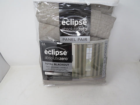 Eclipse Absolute Zero Blackout Curtains 2 Panels Max Taupe AP32