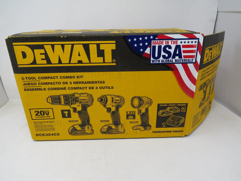 DEWALT 3-Tool 20-volt Max Power Tool Combo Kit with Batteries and Bag B2ES1