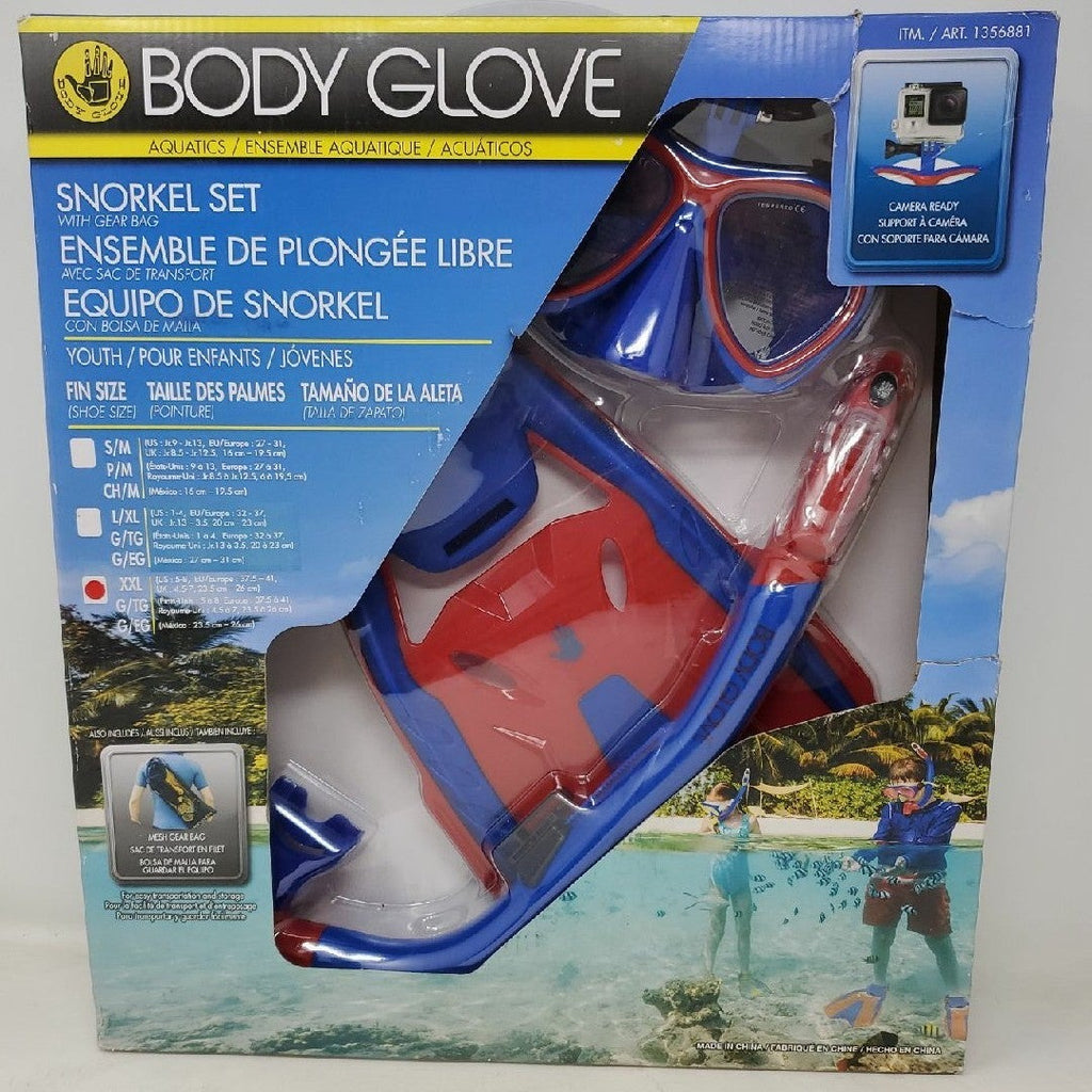 Body glove kids snorkel set size us 5-8 ap2