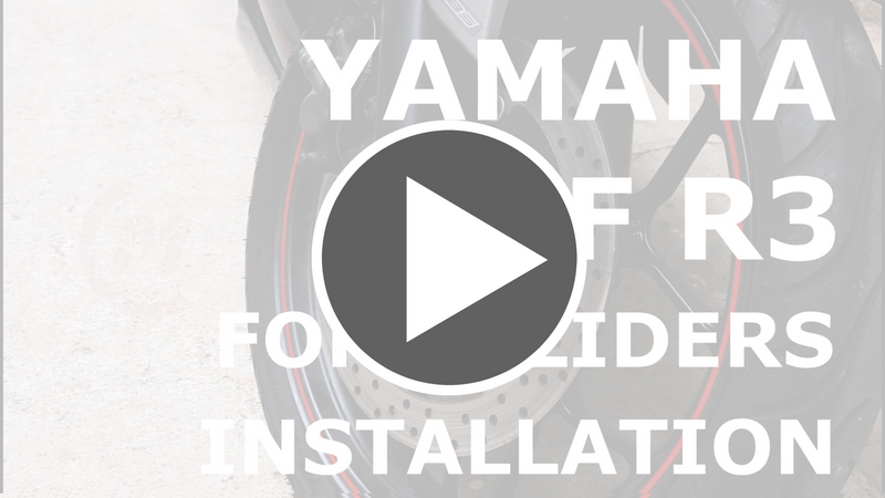 MC Motoparts front fork slider installation video on Yamaha YZF-R3