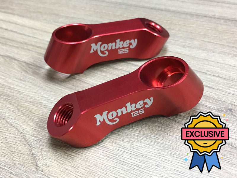 Honda Monkey 125 Z125M Red Mirror Extenders