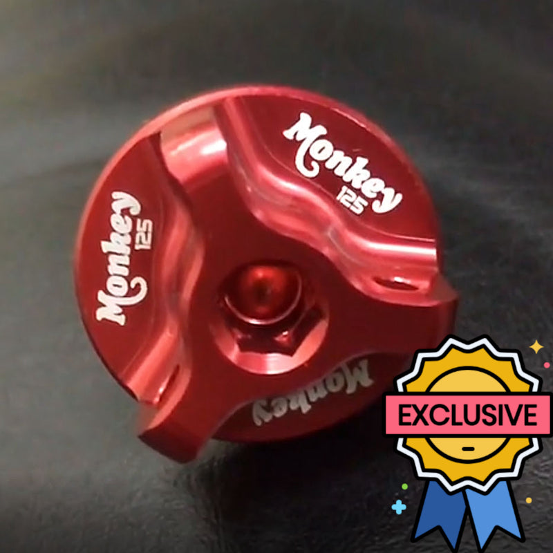 Honda Monkey 125 logo engraved red oil filler cap
