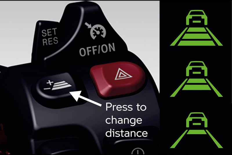 BMW motorcycle's Active Cruise Control (ACC) system