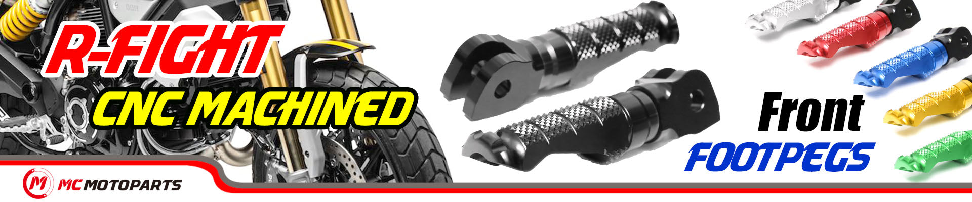MC Motoparts R-Fight CNC Foot pegs