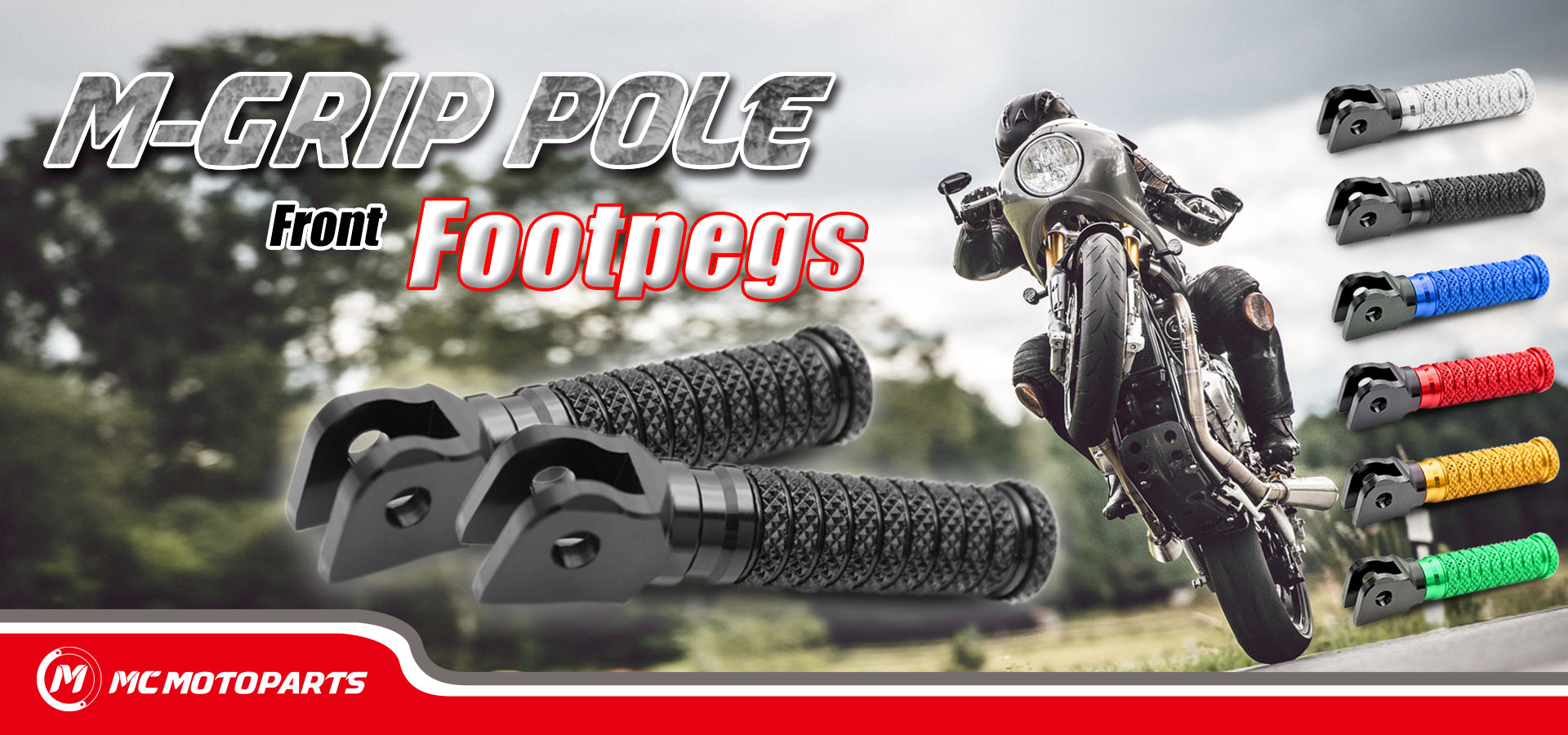 M-Grip POLE Front Foot Pegs