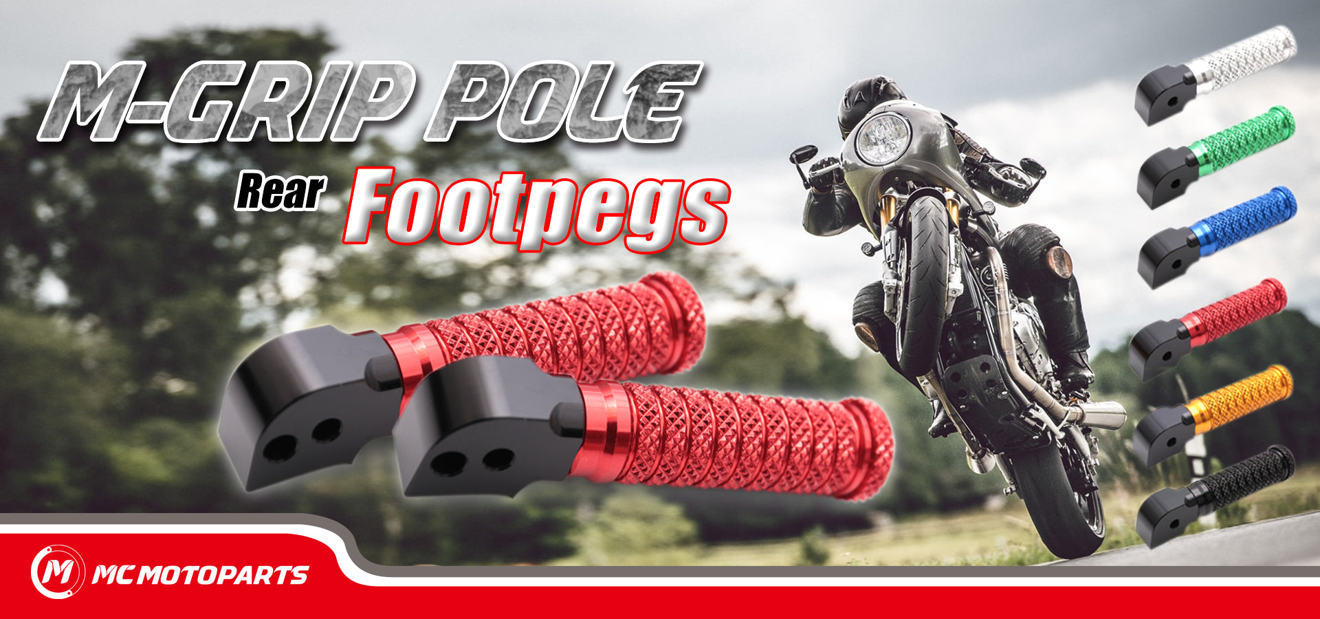 M-Grip POLE Rear Foot Pegs