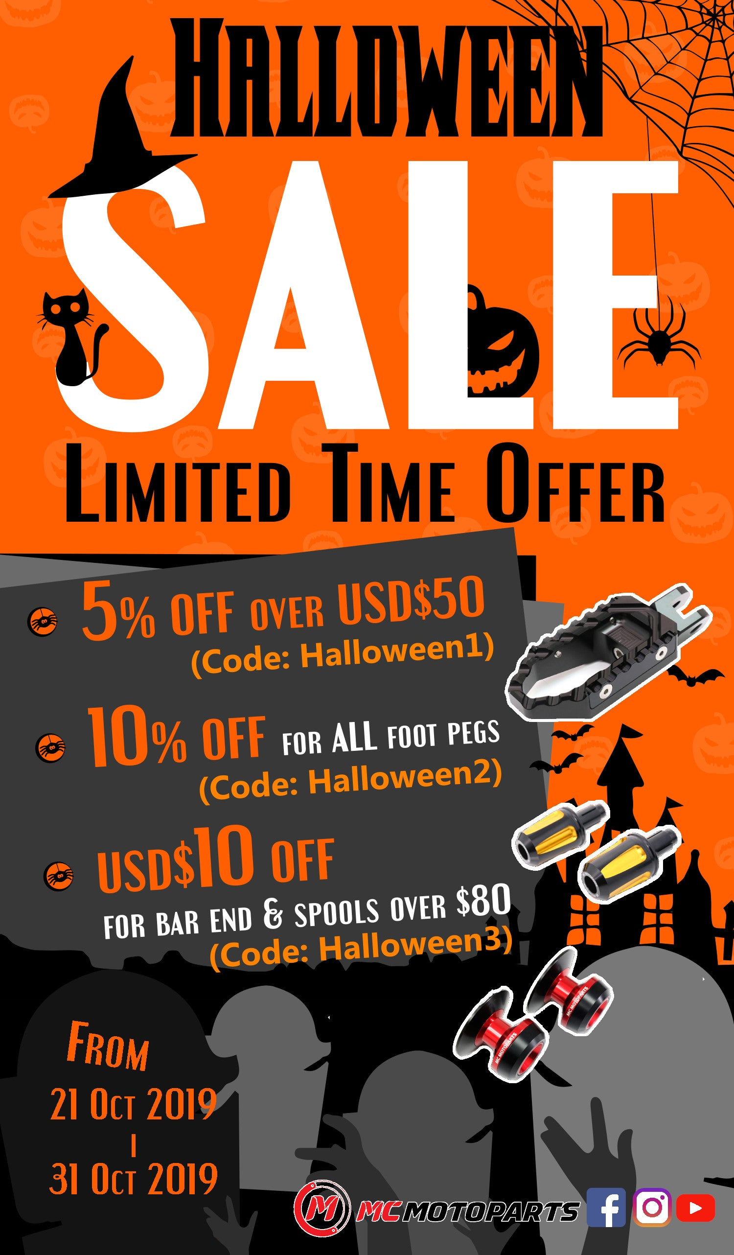 MC Motoparts Halloween Sale 2019