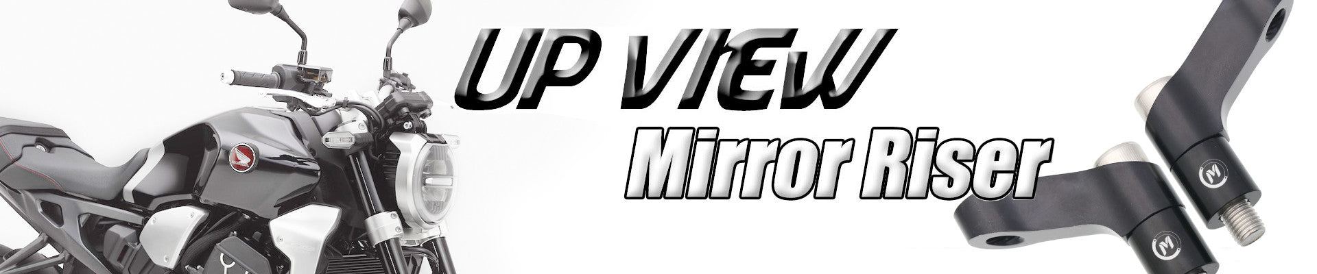 MC Motoparts UPVIEW mirror extenders
