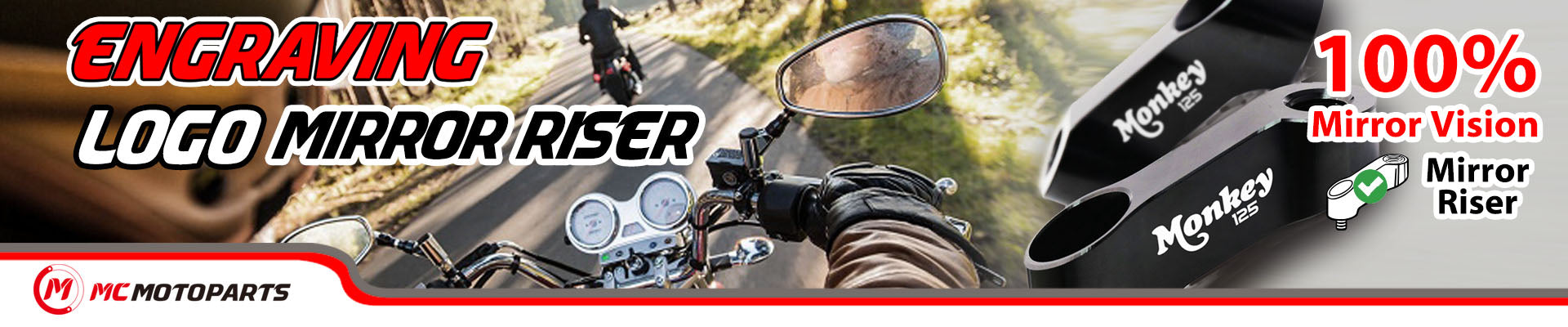Motorcycle Mirror Extender banner