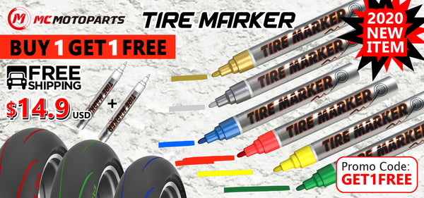 MC MOTOPARTS BUY 1 GET 1 FREE TIRE MARKER PEN
