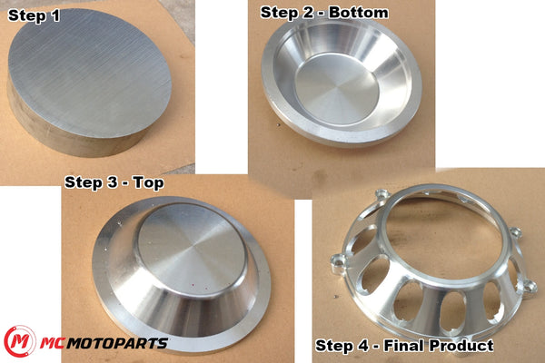 MC Motoparts CNC machines for Ducati clutch cover