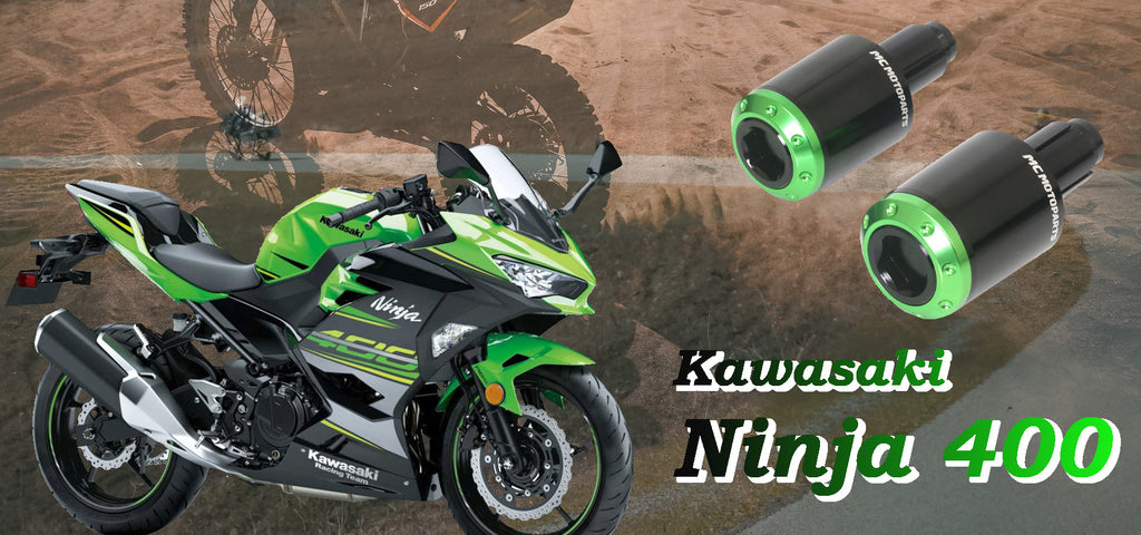 Kawasaki Ninja 400 Green Bar Ends Sliders