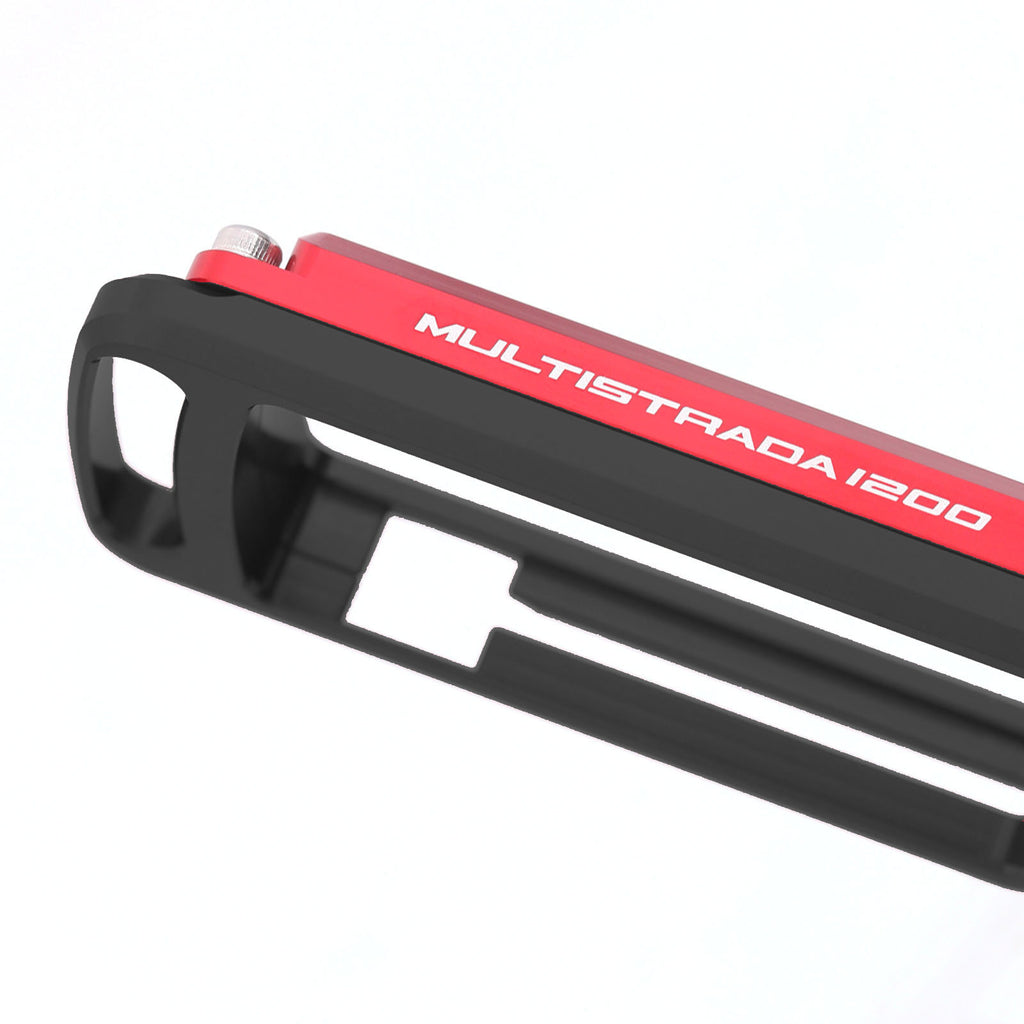 Fit Ducati Multistrada 1200 Logo Engraved Key Case Holder - MC Motoparts