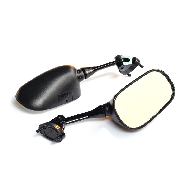 Fit Kawasaki ZX-6R Ninja ZX-10R Black eMark Aftermarket Rear View Mirrors - MC Motoparts
