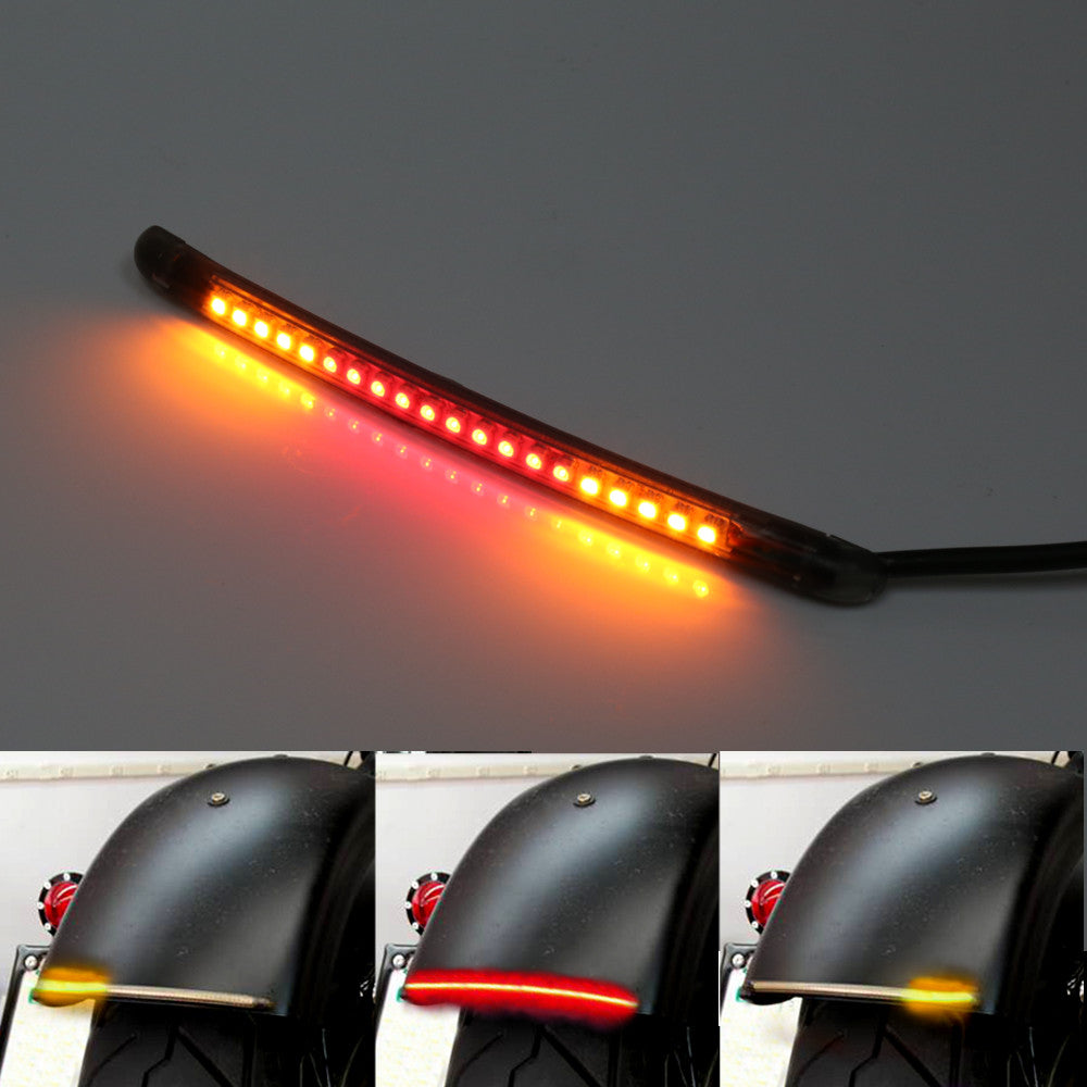 15cm AMP-Z Rear LED Turn Signal Brake Light Strip - MC Motoparts