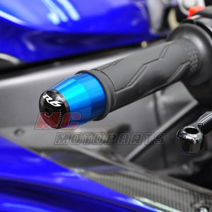 Fit Yamaha R6 Engraved Logo LIM Handle Bar Ends
