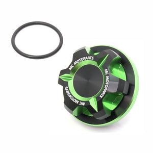 Fit Kawasaki ZX6R ZX6RR ZX14R ZX10R T-Axis CNC Oil Filler Cap - MC Motoparts