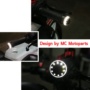 Fit Ducati Monster 696 821 Daivel IXENO Running Light LED Bar Ends - MC Motoparts