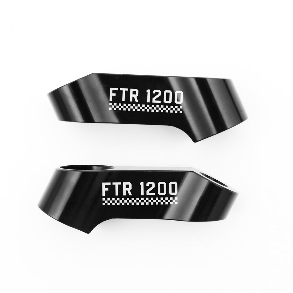 Fit Indian FTR1200 2019-2020 Engraved Check Logo Mirror Extender Riser - MC Motoparts