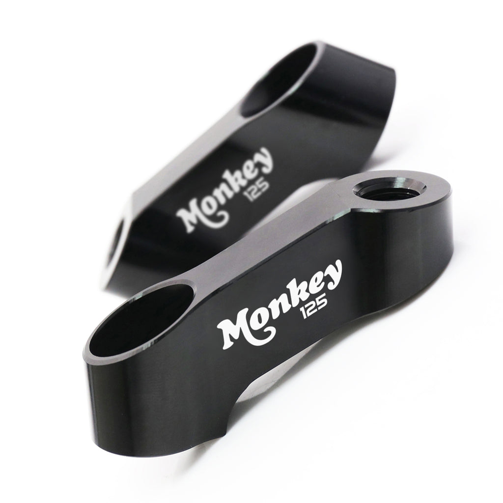 Fit Honda Monkey 125 2018-2019 Engraved Logo Mirror Extender Riser - MC Motoparts