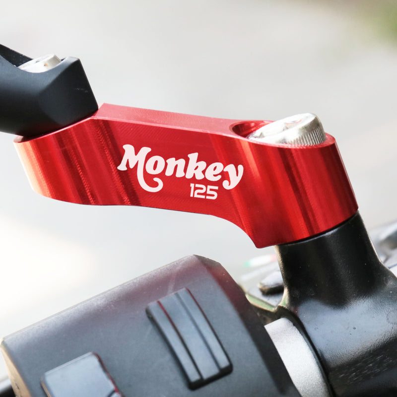 Fit Honda Monkey 125 2018-2020 Engraved Logo Mirror Extender Riser - MC Motoparts