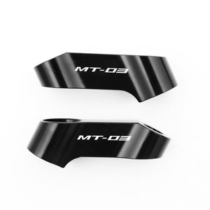 Fit Yamaha MT-03 2006-2020 Engraved Logo Mirror Extender Riser - MC Motoparts