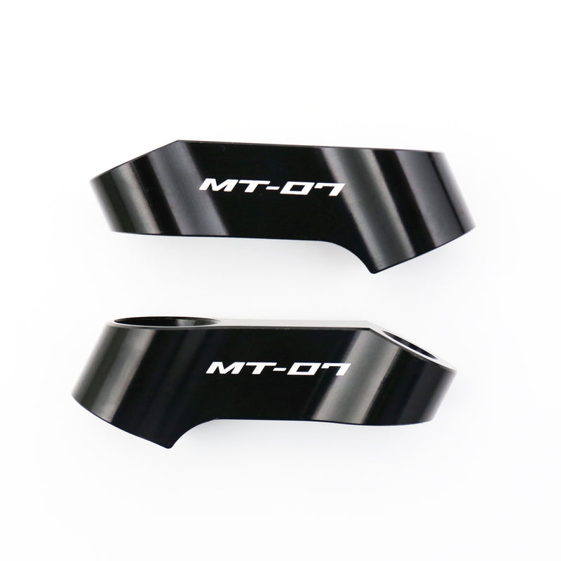 Fit Yamaha MT-07 2014-2019 Engraved Logo Mirror Extender Riser - MC Motoparts