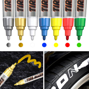 7 Colors Waterproof Tire Marker Pen For Motorcycles & Cars - MC Motoparts