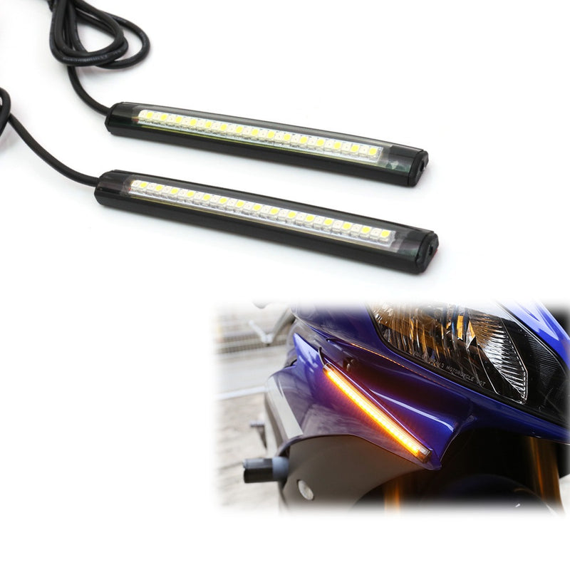 12cm LED Turn Signal & Front Running Light Strips - MC Motoparts