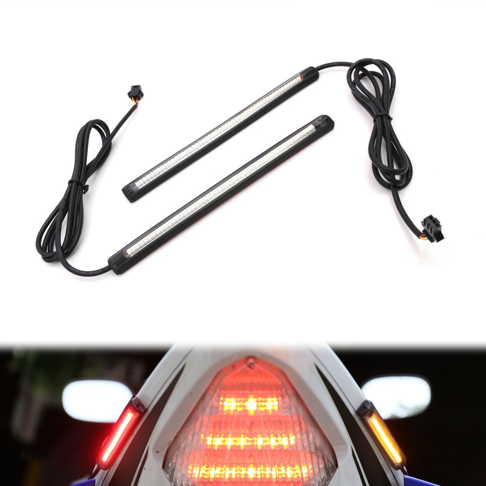 18cm LED Turn Signal & Tail Brake Light Strips - MC Motoparts