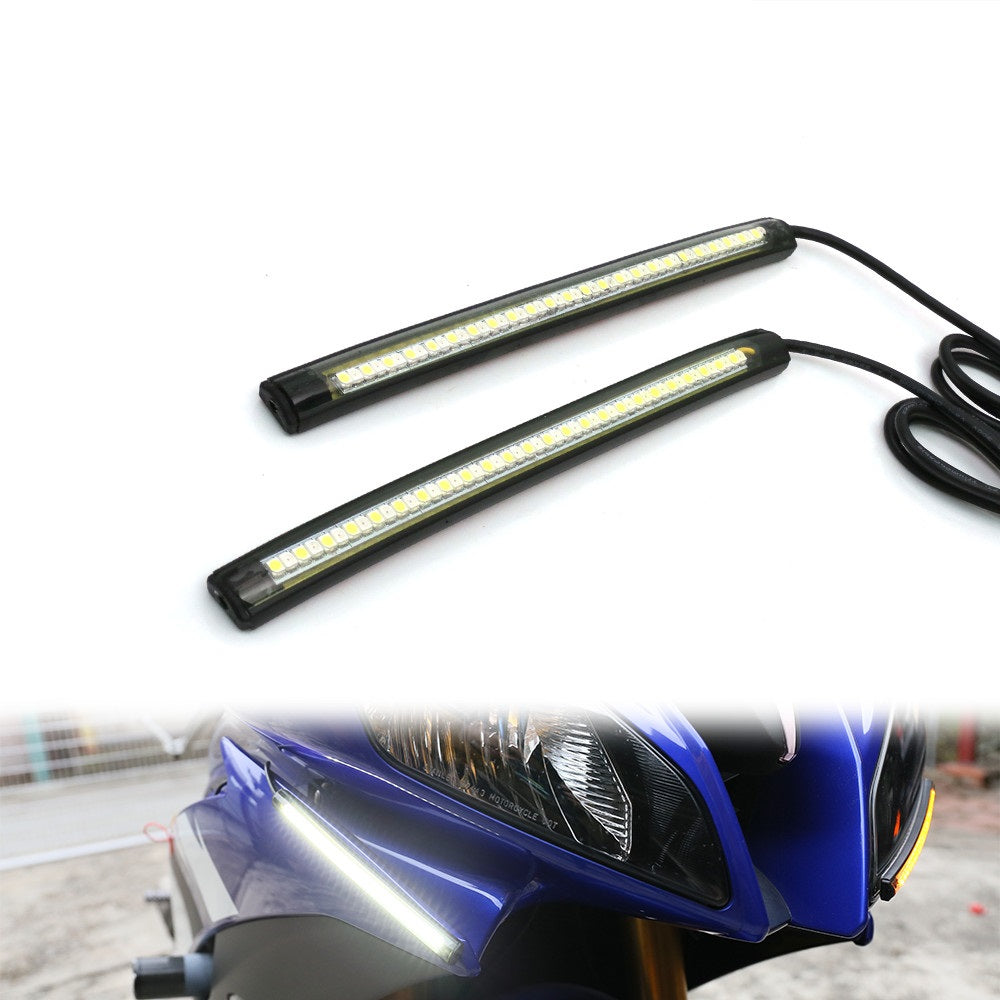 18cm LED Turn Signal & Front Running Light Strips - MC Motoparts