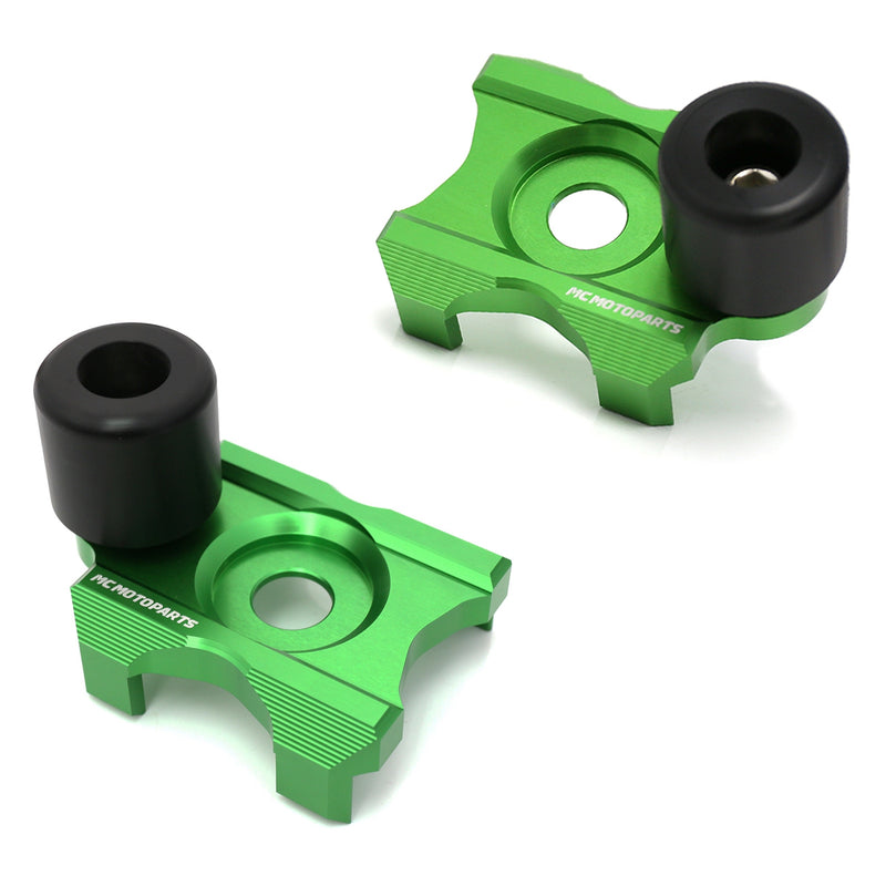 Fit Kawasaki Ninja 250R 400R Z250 Z300 CNC Swingarm Protectors Crash Sliders - MC Motoparts