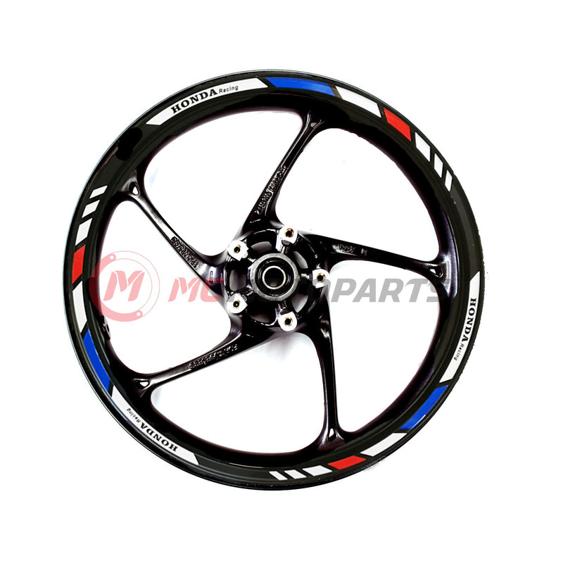 Fit Honda Racing CBR600RR CBR1000RR 17'' Wheel Rim Reflective Decal Stickers - MC Motoparts