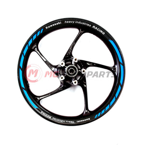 Fit Kawasaki Racing Blue 17'' Wheel Rim Reflective Decal Stickers - MC Motoparts