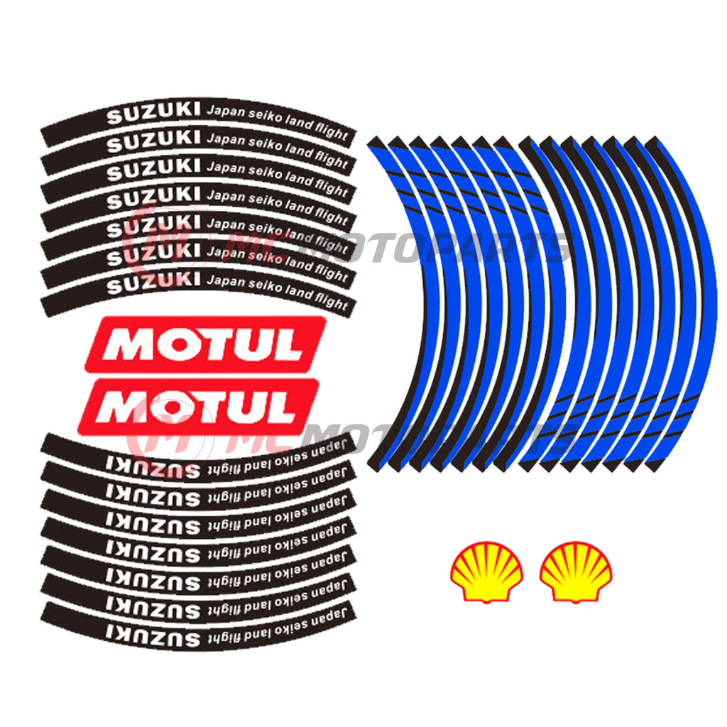 Fit Suzuki GSXR 17'' Wheel Rim Reflective Decal Stickers - MC Motoparts