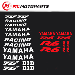 Fit Yamaha YZF R6 17'' Wheel Rim Reflective Decal Stickers - MC Motoparts