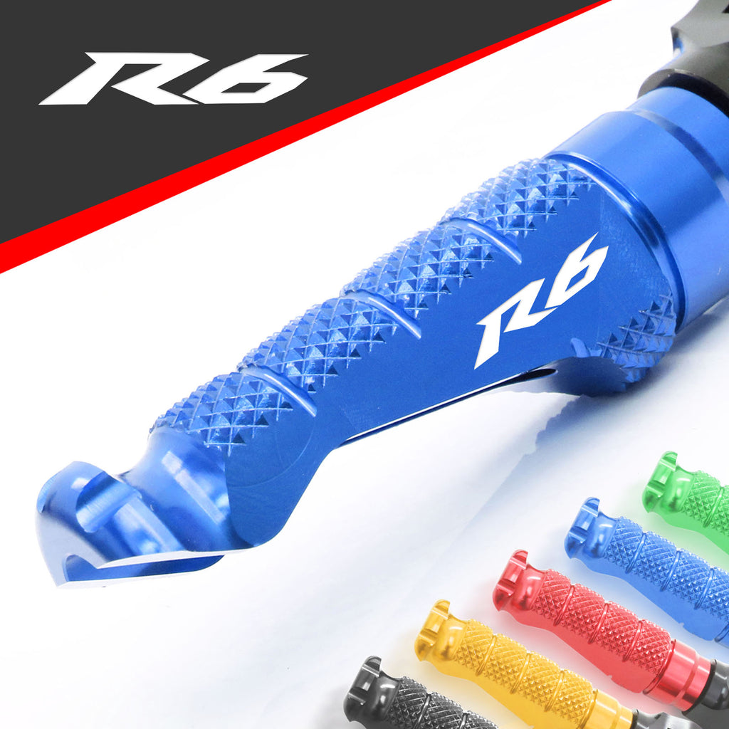 Fit Yamaha YZF R6 99-19 Engraved Logo R-FIGHT Front Foot Pegs - MC Motoparts