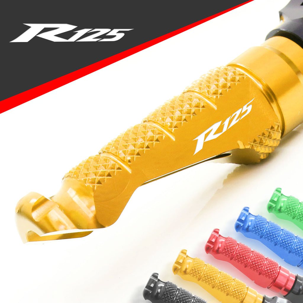 Fit Yamaha YZF R125 08-13 Engraved Logo R-FIGHT Front Foot Pegs - MC Motoparts