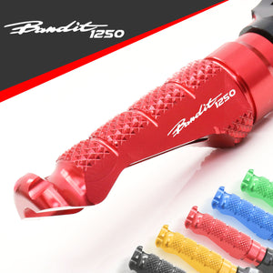 Fit Suzuki Bandit 1250 S Engraved Logo R-FIGHT Front Foot Pegs - MC Motoparts