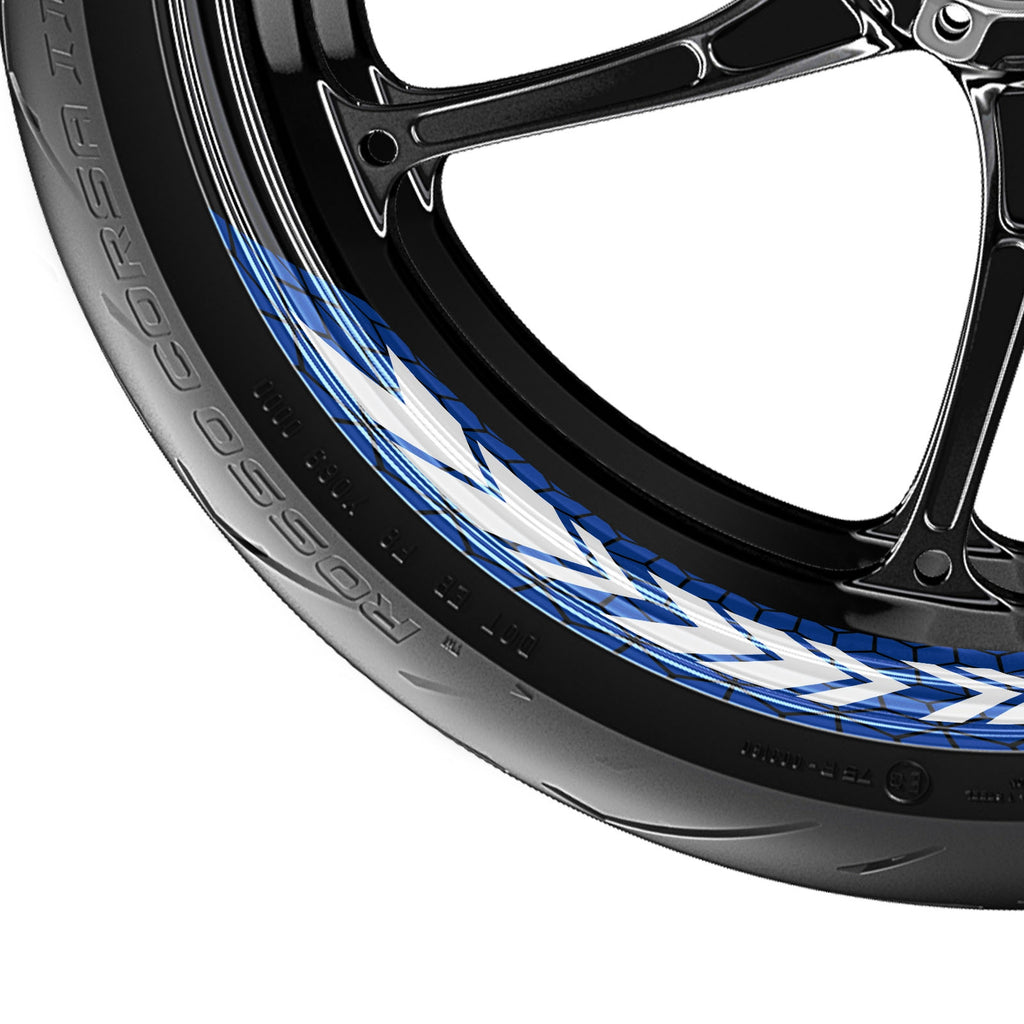 Arrow Pattern 17'' Wheel Front & Rear Removable Rim Sticker Set - MC Motoparts