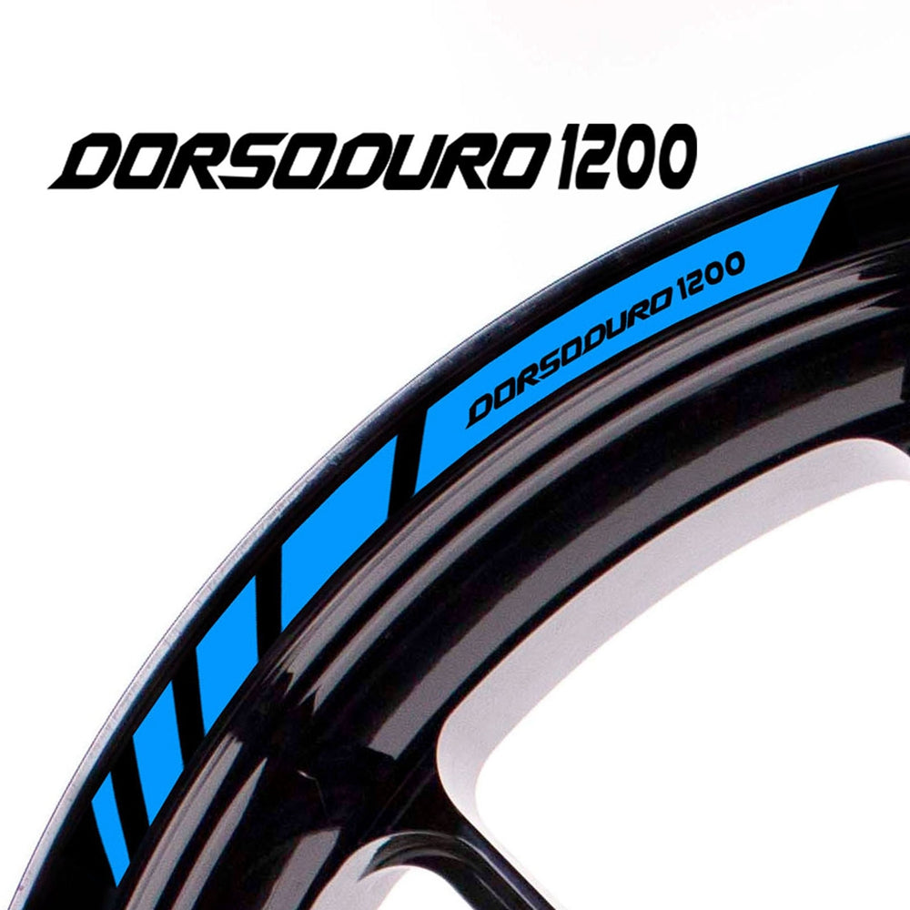 Fit Aprilia DORSODURO 1200 Logo Strips Wheel Rim Edge Sticker - MC Motoparts