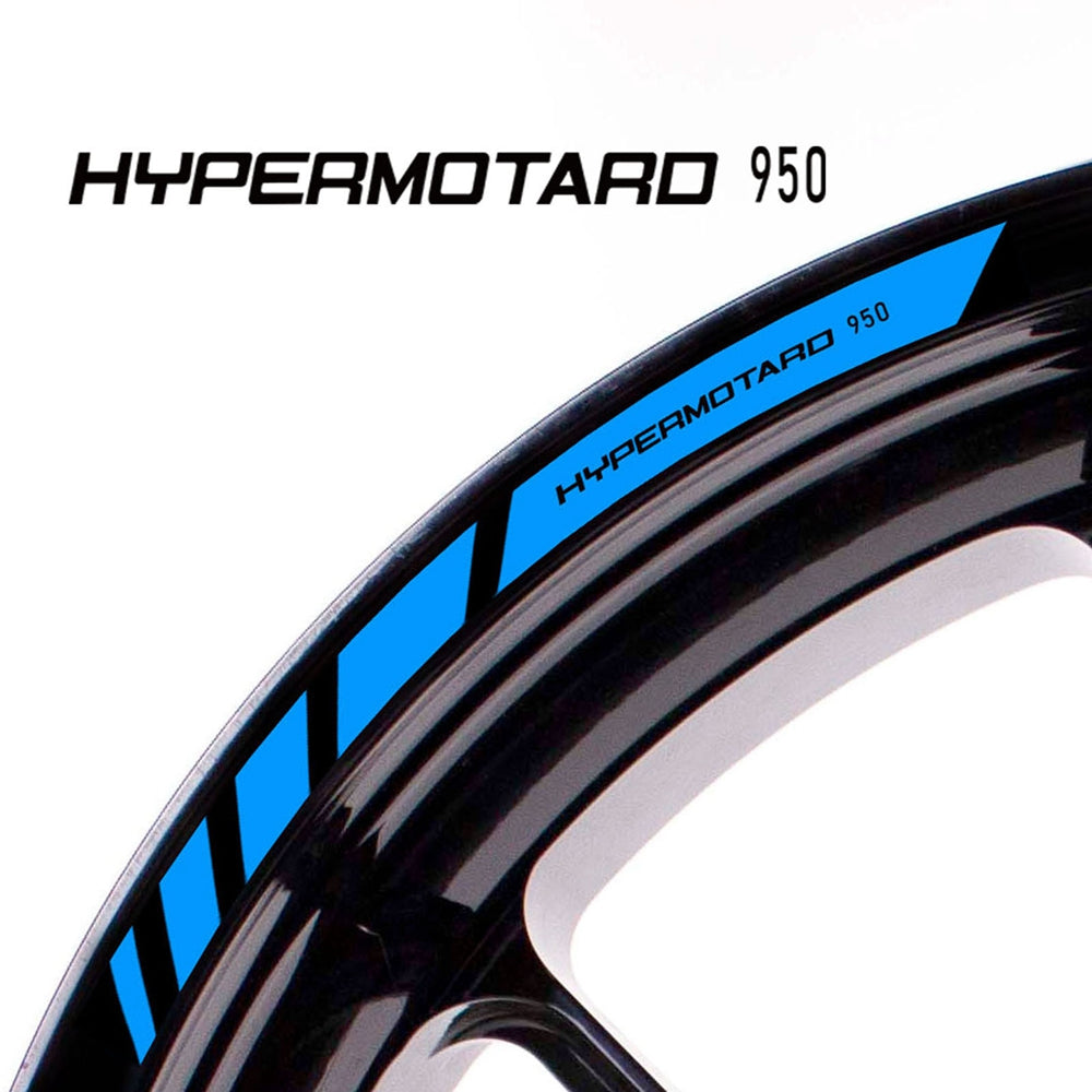 Fit Ducati HYPERMOTARD 950 Logo Strips Wheel Rim Edge Sticker - MC Motoparts