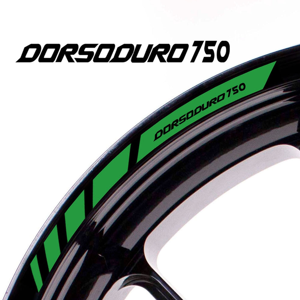 Fit Aprilia DORSODURO 750 Logo Strips Wheel Rim Edge Sticker - MC Motoparts