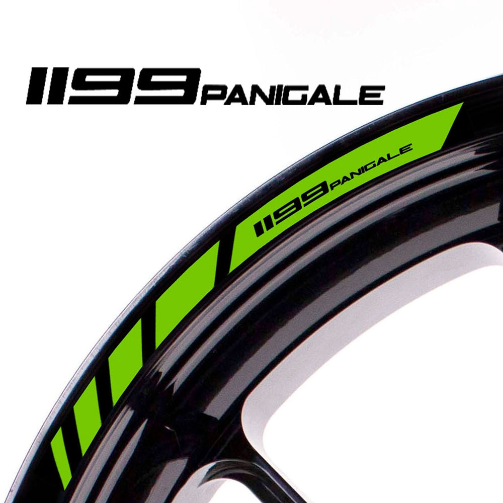 Fit Ducati 1199 PANIGALE Logo Strips Wheel Rim Edge Sticker - MC Motoparts