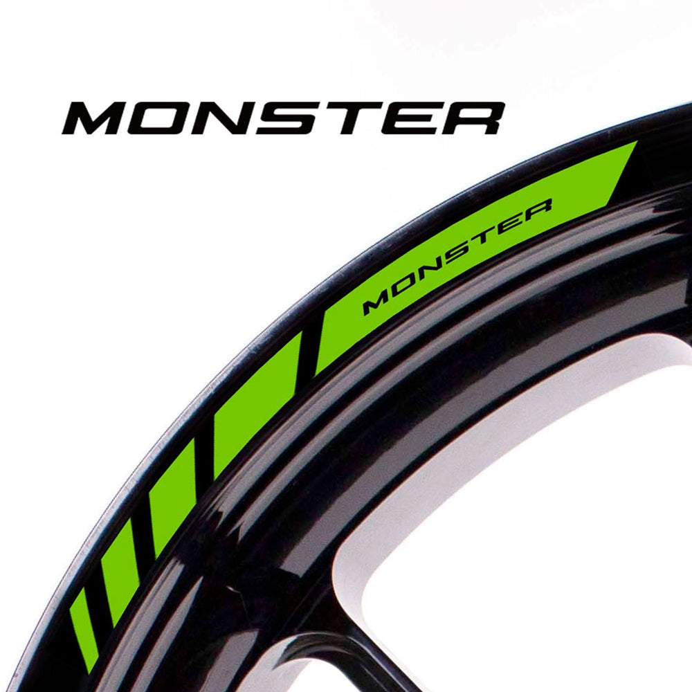 Fit Ducati MONSTER Logo Strips Wheel Rim Edge Sticker - MC Motoparts