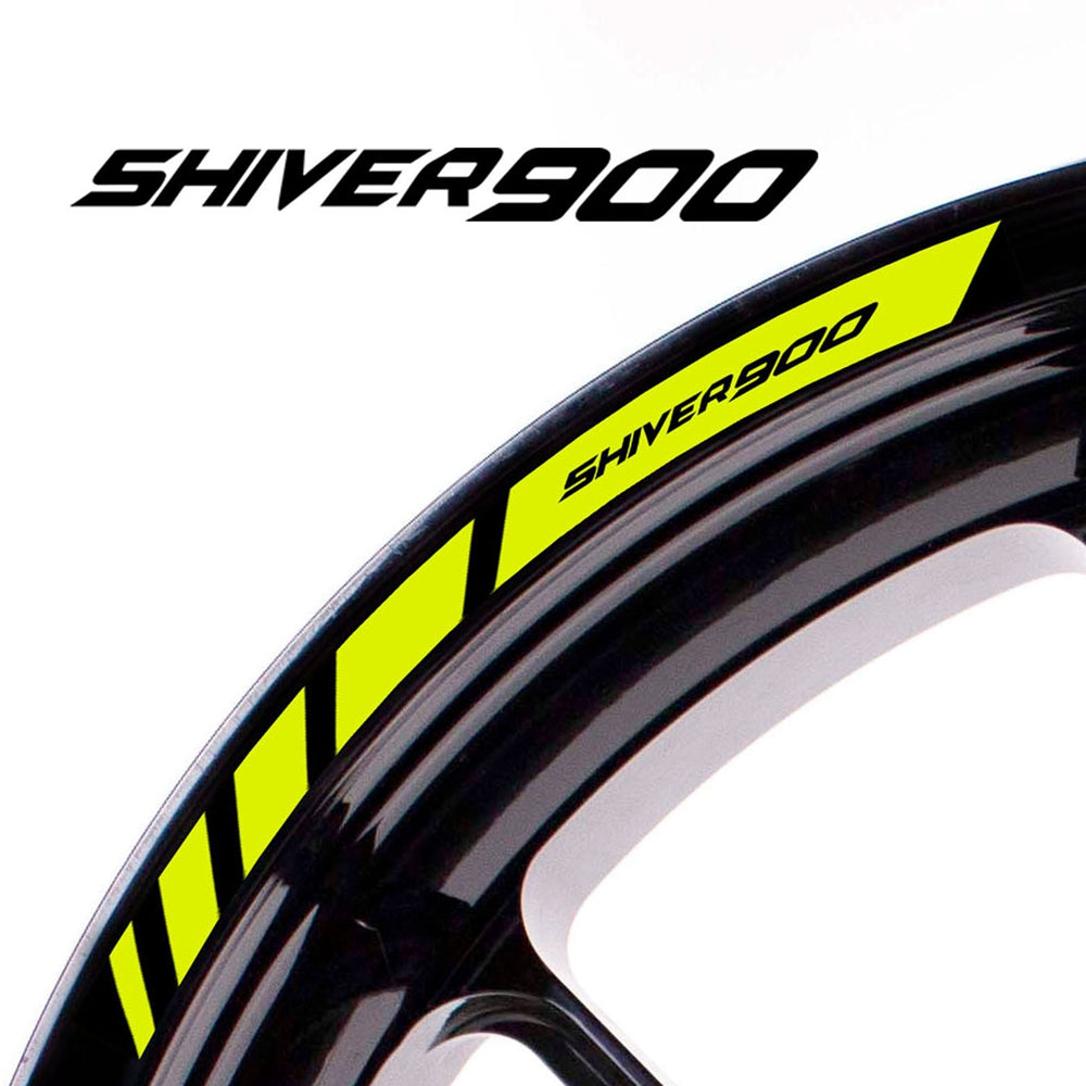Fit Aprilia SHIVER 900 Logo Strips Wheel Rim Edge Sticker - MC Motoparts