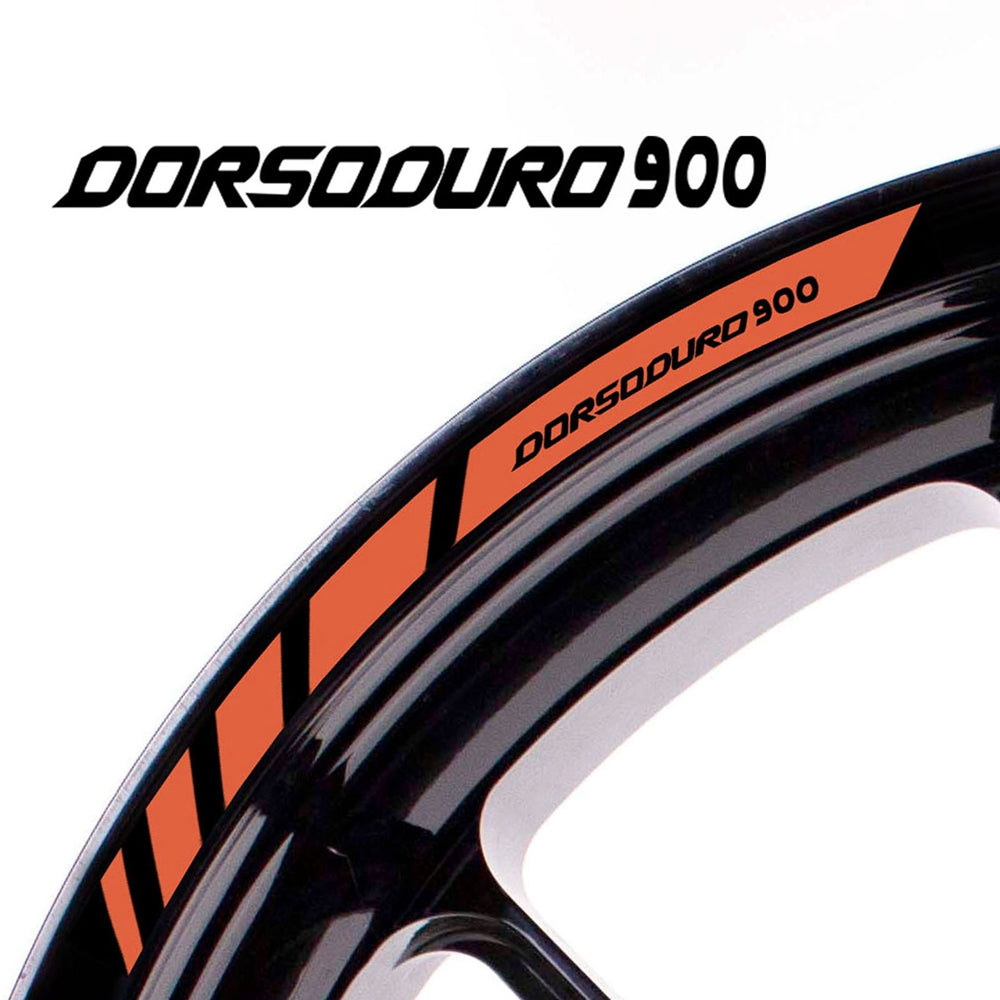 Fit Aprilia DORSODURO 900 Logo Strips Wheel Rim Edge Sticker - MC Motoparts