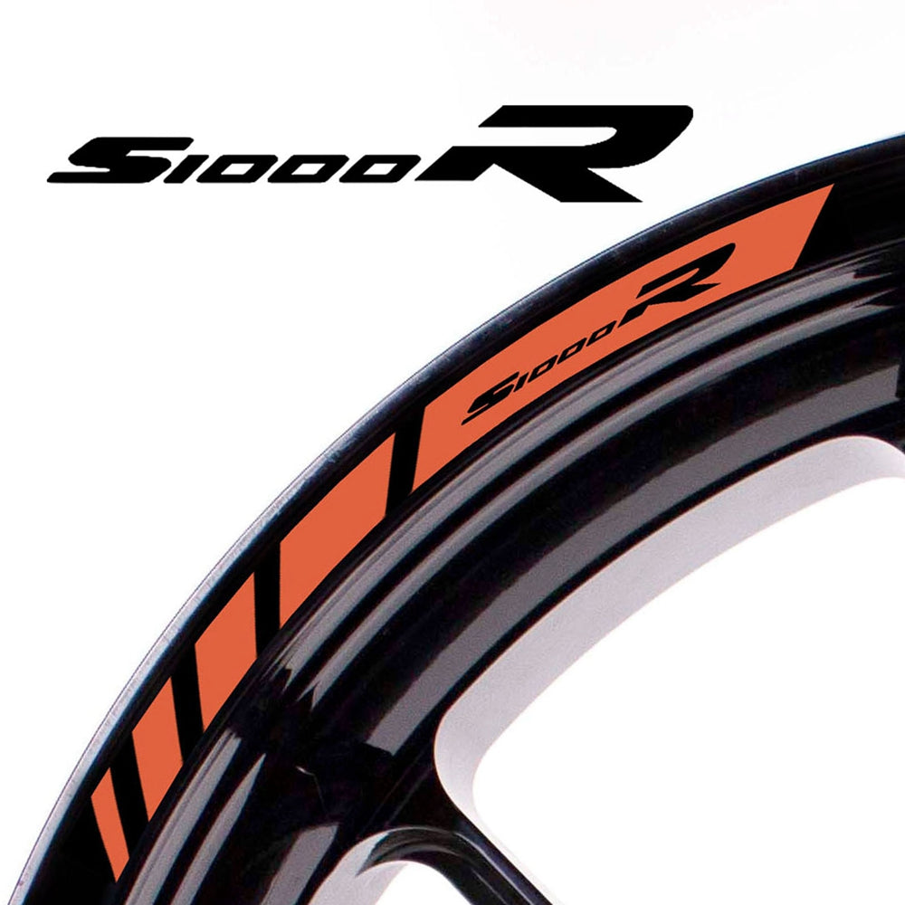Fit BMW S1000R Logo Strips Wheel Rim Edge Sticker - MC Motoparts