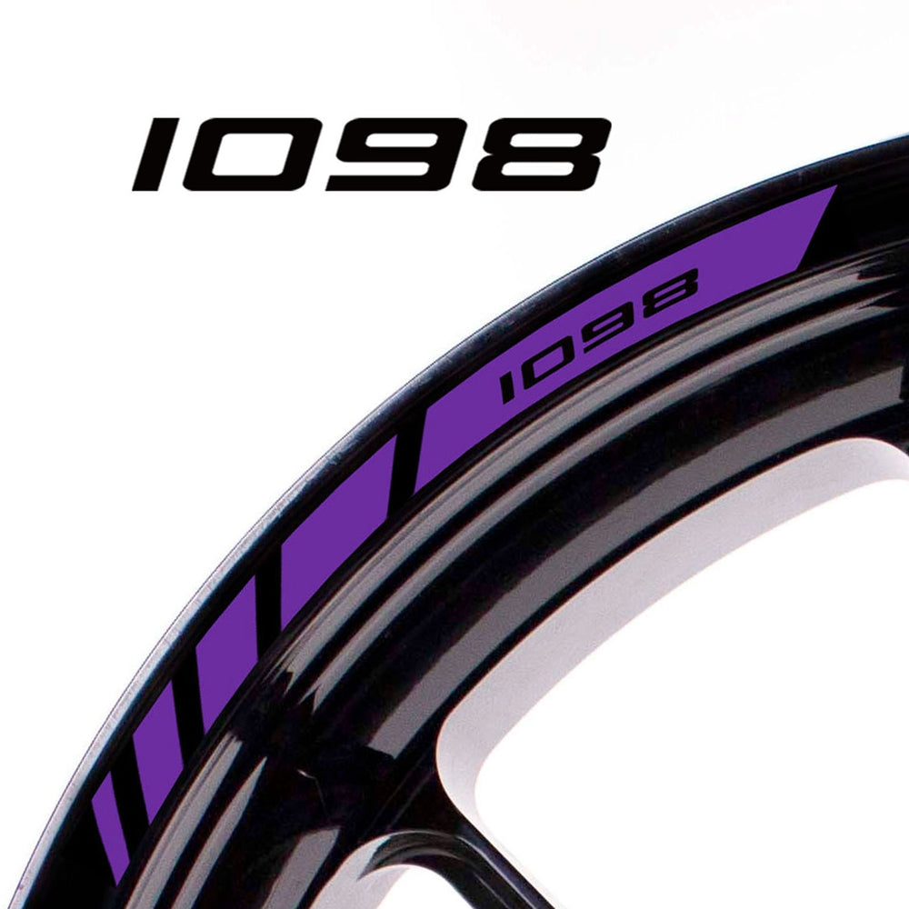Fit Ducati 1098 Logo Strips Wheel Rim Edge Sticker - MC Motoparts